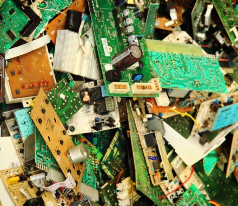 A mound of electronic waste