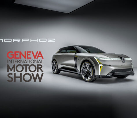 Renault Morphoz concept animation of the car expanding