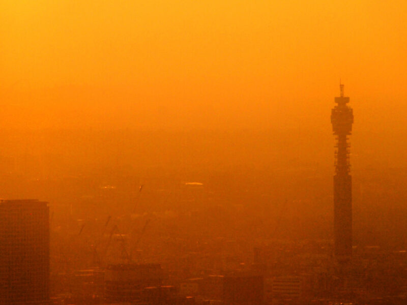 Air pollution over London