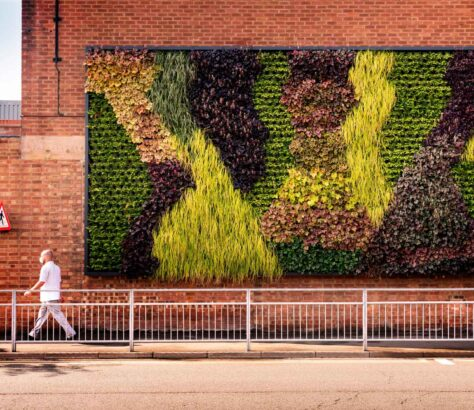 Bentley's living wall at its global headquarters and production facility in Crewe, UK