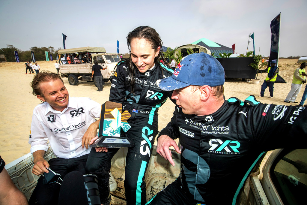 The RXR team after winning the Extreme E Ocean X Prix
