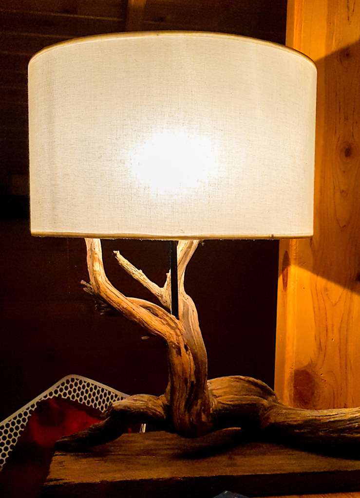 Side light made from Driftwood