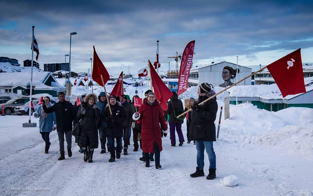 The Inuit Ataqatigiit party believes in an independent Greenland and fighting to keep the environment clean. Photo by Inuit Ataqatigiit