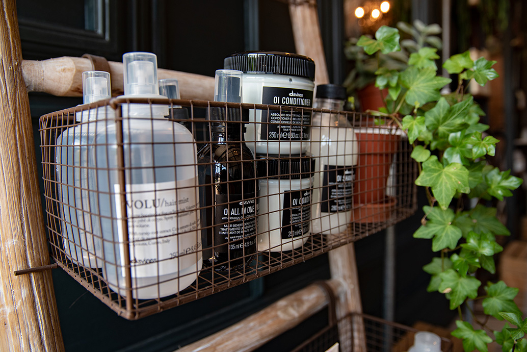 A selection of Davine hair products