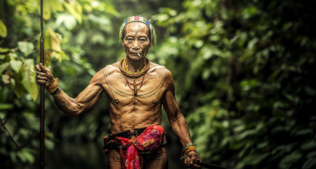 The Indigenous inhabitants ethnic of the islands in Muara Siberut are also known as the Mentawai people. West Sumatra, Indonesia